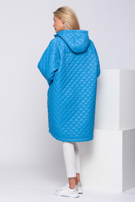 Quilted Down Jacket COMFORT Light Blue