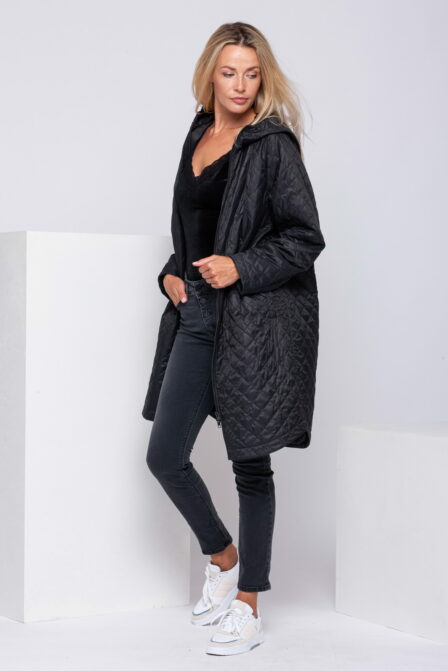 Quilted Padded Jacket COMFORT Black